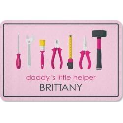 Daddy's Little Girl Helper Garage Personalized Doormat