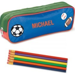 Sportsball Pencil Case and Pencil Set