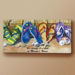 Fun Flip-Flops Canvas Print