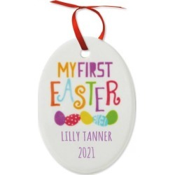 Baby's First Personalized Easter Ornament found on Bargain Bro from Lillian Vernon for USD $8.35