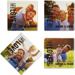 Always Love Photo Coasters found on Bargain Bro India from Lillian Vernon for $21.99