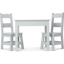 Gray Wooden Table & Chair by Melissa & Doug® found on Bargain Bro India from Lillian Vernon for $179.99