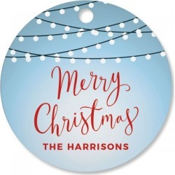 Christmas Lights Personalized Ornament Circle found on Bargain Bro India from Lillian Vernon for $12.99