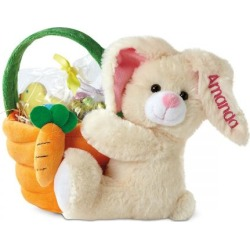 Plush Easter Bunny with Basket