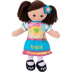 Personalized Hispanic Rag Doll with Apron Dress found on Bargain Bro India from Lillian Vernon for $39.99