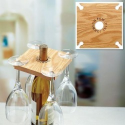Party of 4 Wine Rack found on Bargain Bro India from Lillian Vernon for $16.99