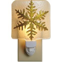 Gold Snowflake Night Light