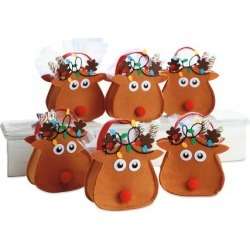 Reindeer Felt Party Treat Bags found on Bargain Bro from Lillian Vernon for USD $8.35