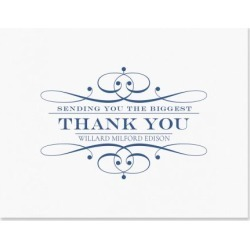 Elegant Personalized Thank You Cards - Light Stock