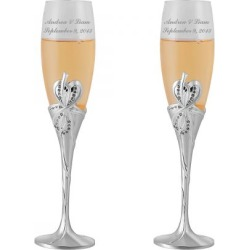 Personalized Champagne Flutes found on Bargain Bro India from Lillian Vernon for $79.99