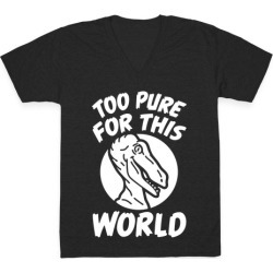 Dinosaurs Are Too Pure For This World V-Neck T-Shirt from LookHUMAN