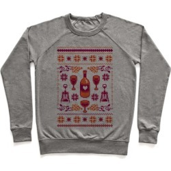 Ugly Wine Christmas Sweater Pullover from LookHUMAN