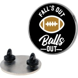 Falls Out Ball Out Football Pin from LookHUMAN