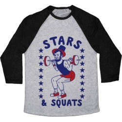 Stars and Squats Baseball Tee from LookHUMAN