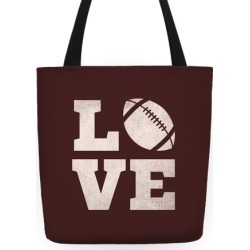Love Football Tote Tote Bag from LookHUMAN found on Bargain Bro India from LookHUMAN for $27.99