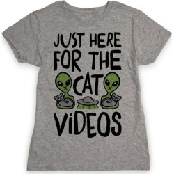 I'm Just Here For The Cat Videos T-Shirt from LookHUMAN