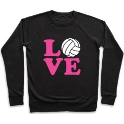 Love Volleyball Pullover from LookHUMAN