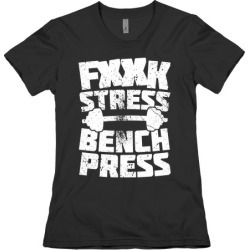 F*** Stress Bench Press (Censored) T-Shirt from LookHUMAN