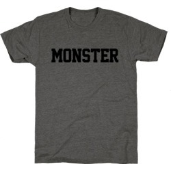 Monster Text T-Shirt from LookHUMAN