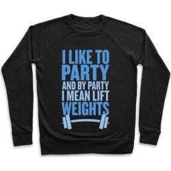 I Like to Party, and by Party I Mean Lift Weights Pullover from LookHUMAN