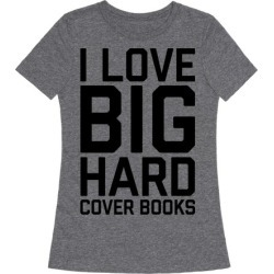 I Love Big Hardcover Books T-Shirt from LookHUMAN