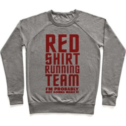 Red Shirt Running Team Pullover from LookHUMAN