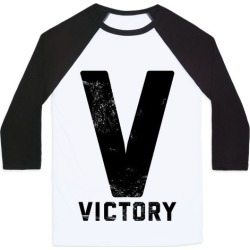 V For Victory Baseball Tee from LookHUMAN