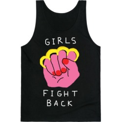 Girls Fight Back Tank Top from LookHUMAN