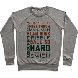 Basketball Typographic (Green and Orange) Pullover from LookHUMAN