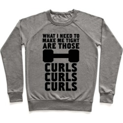 Curls, Curls, Curls Pullover from LookHUMAN