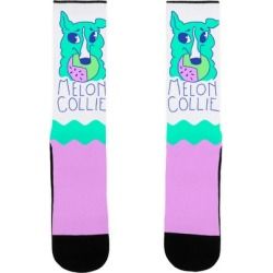 Melon Collie Socks from LookHUMAN