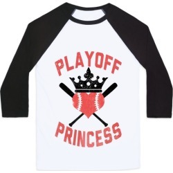 Playoff Princess Baseball Tee from LookHUMAN found on Bargain Bro from LookHUMAN for USD $22.79