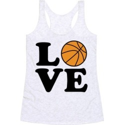 Love Basketball Racerback Tank from LookHUMAN