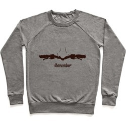 Handlebar Mustache Pullover from LookHUMAN