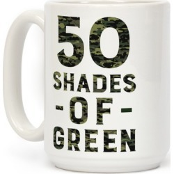 50 Shades of Green Mug from LookHUMAN found on Bargain Bro from LookHUMAN for USD $13.67