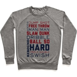 Basketball Typographic (Red and Blue) Pullover from LookHUMAN