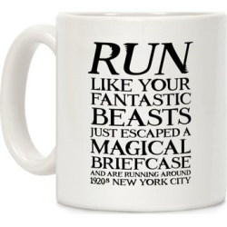 Run Like Your Fantastic Beasts Just Escaped Mug from LookHUMAN found on Bargain Bro Philippines from LookHUMAN for $14.99