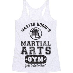 Master Roshi's Martial Arts Gym Racerback Tank from LookHUMAN found on Bargain Bro Philippines from LookHUMAN for $25.99