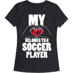 My Heart Belongs To A Soccer Player T-Shirt from LookHUMAN