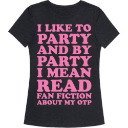 I Like to Read Fan Fiction T-Shirt from LookHUMAN