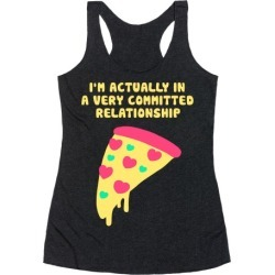 Pizza Relationship Racerback Tank from LookHUMAN