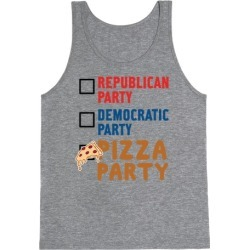 Pizza Party Tank Top from LookHUMAN