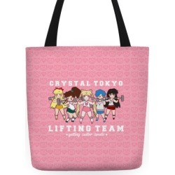 Crystal Tokyo Lifting Team Tote Bag from LookHUMAN found on Bargain Bro India from LookHUMAN for $24.99