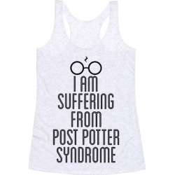 Post Potter Syndrome Racerback Tank from LookHUMAN found on Bargain Bro Philippines from LookHUMAN for $25.99