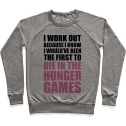 Hunger Games Workout Pullover from LookHUMAN