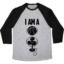 Basketball fan Baseball Tee from LookHUMAN