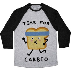 Time For Carbio Baseball Tee from LookHUMAN
