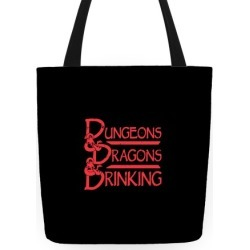 Dungeons & Dragons & Drinking Tote Bag from LookHUMAN