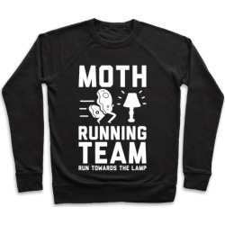 Moth Running Team Pullover from LookHUMAN