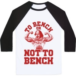 To Bench Or Not To Bench Baseball Tee from LookHUMAN